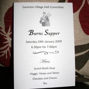 Burns Night 2009