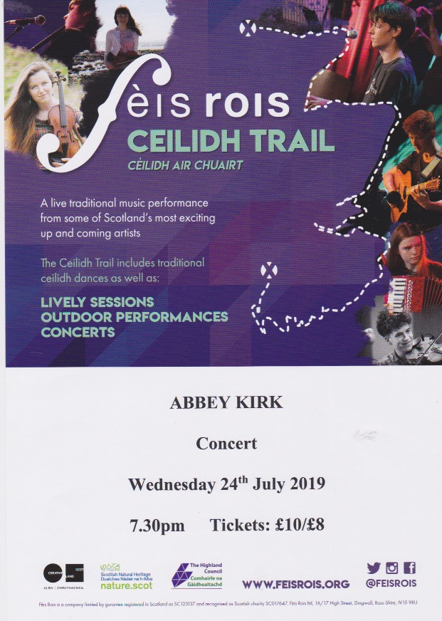 Fais Rois Concert at Abbey Kirk on 24 July at 7:30pm