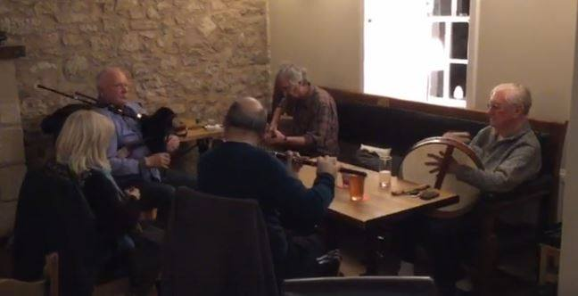 Traditional Scottish/folk music at the Plough Inn, Leitholm