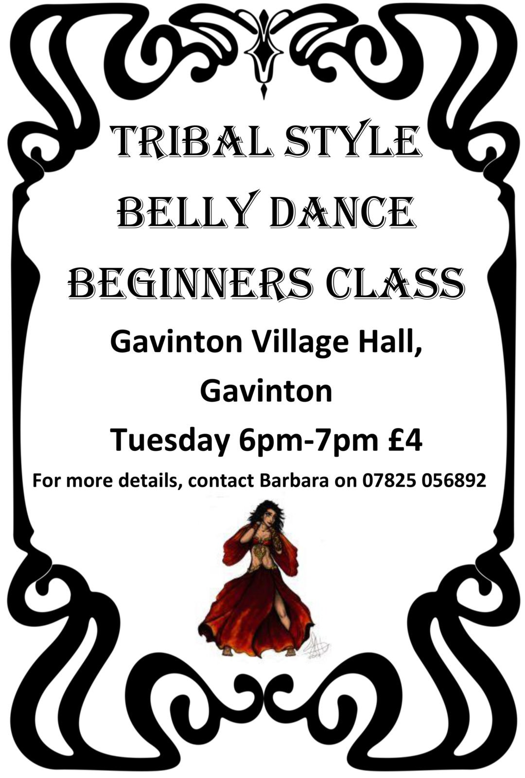 Tribal Belly Dancing - village hall