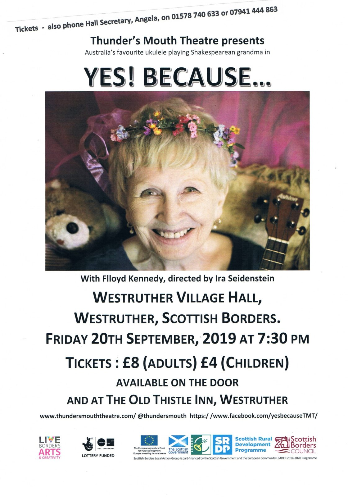 Theatre Production at Westruther Village Hall on 20 September