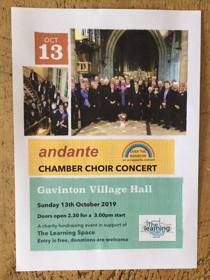 Adante Chamber Choir Concert in Gavinton Village Hall on 13 October - FREE