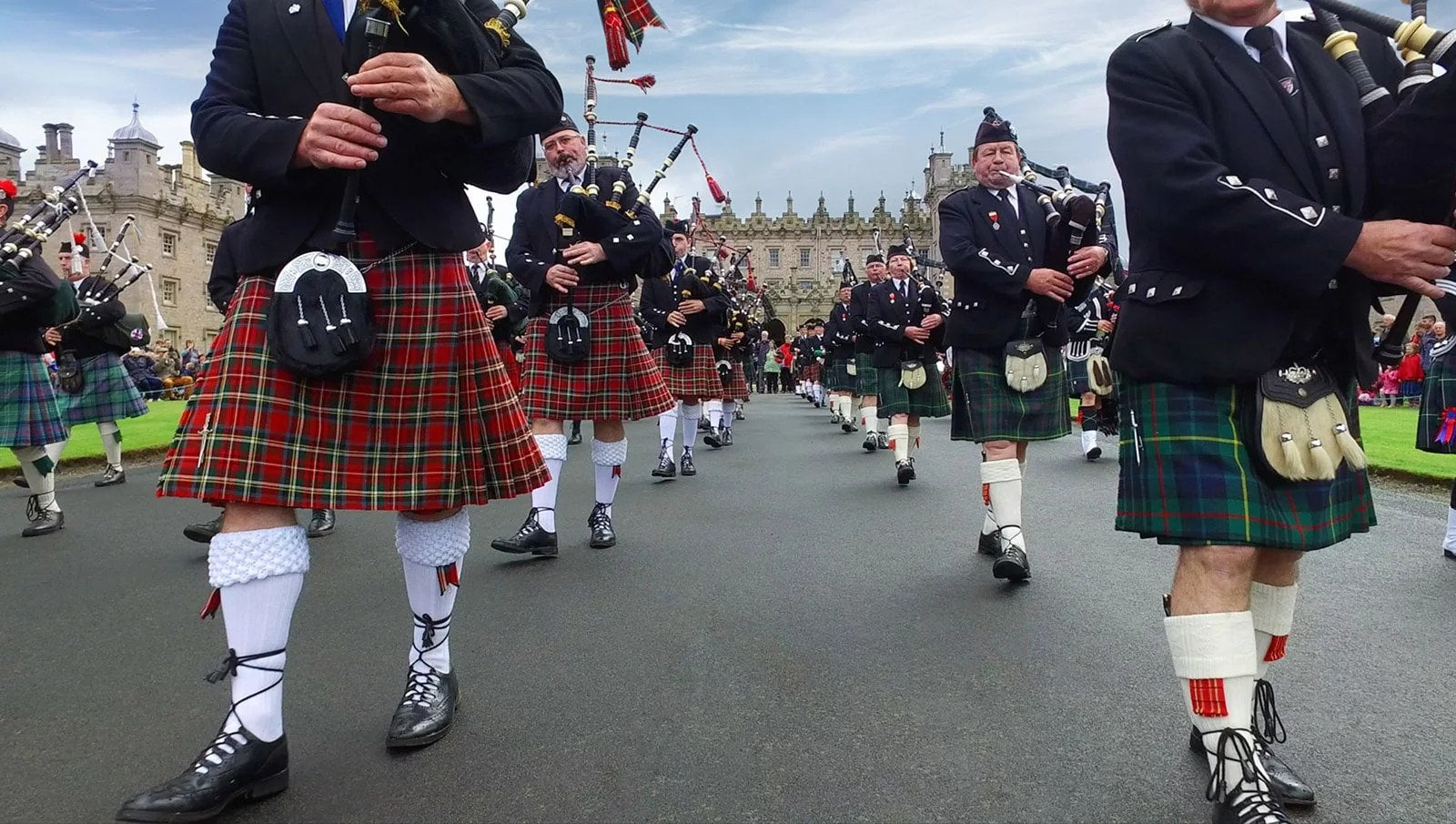 Massed pipe band day on 25 August at Floors Castle